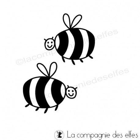 biene stempel | bees rubber stamp