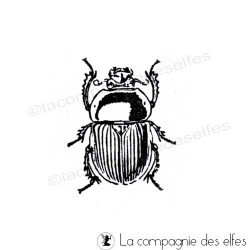 Tampon encreur scarabée