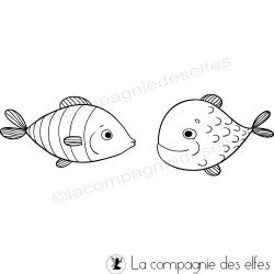 Fisch stempel | fish rubber stamp