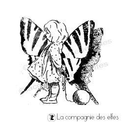 poupée papillon tampon nm
