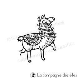 cachet lama| llama stamp