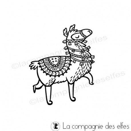 cachet lama| llama stamp | alpaga stamp