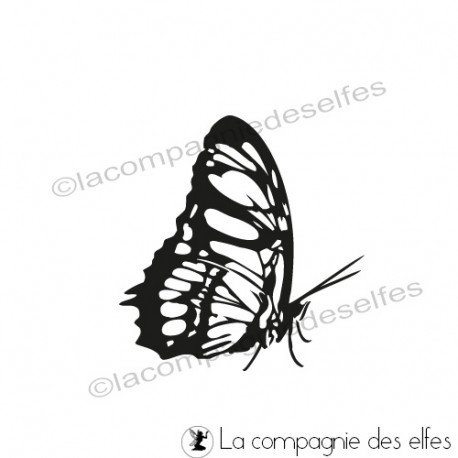 tampon scrapbooking papillon   butterfly rubber stamp