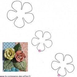 tampons roses - lot de 3 tampons non montés