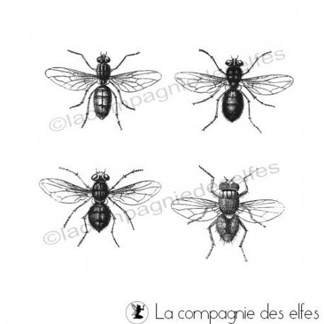 Fliege stempel | fly rubber stamp
