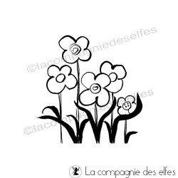 Tampon petites fleurs | timbre fleurs