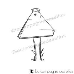 Tampon panneau triangle