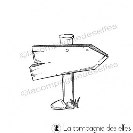 achat tampon panneau bois | buy sign rubber stamp