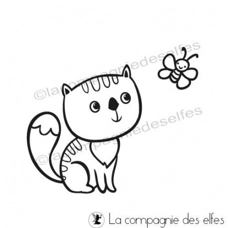 Katz stempel | cute cat rubber stamp