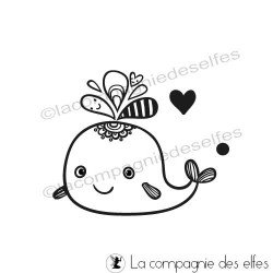 Achat tampon animaux| cute whale stamp