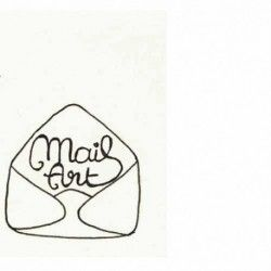 mail art enveloppe ouverte TAMPON NM