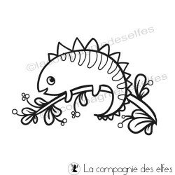 Achat tampon animaux| chameleon cute stamp