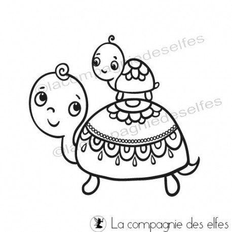 Achat tampon animaux|cute turtle stamp