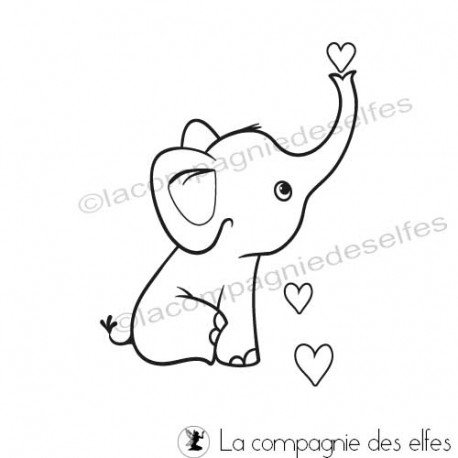 Achat tampon animal |cute elefant stamp