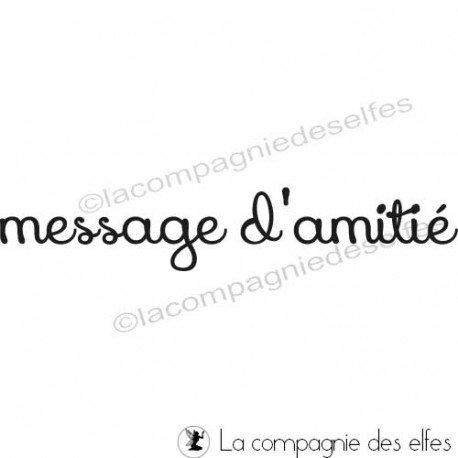 carte 2/3 nouveaux tampons exotiques Tampon-message-d-amitie