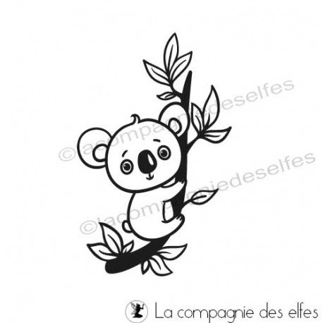Acheter tampon animal | koala rubber stamp