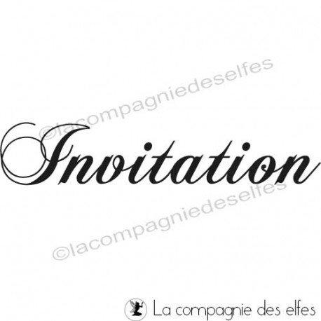 Tampon invitation | cachet invitation