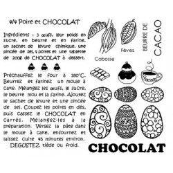 Tampon sur le chocolat