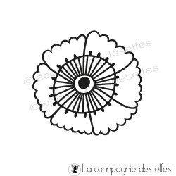 blumen stempeln |round flower rubber stamp