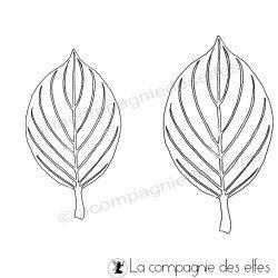 leaf cornouiller stamp | hartriegel stempel | blatt stempel