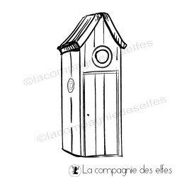 Acheter tampon cabane | house beach stamp