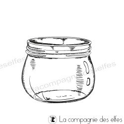 Glas stempeln |jar rubber stamp