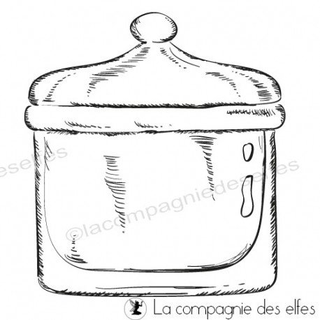 Glas stempeln |candy box rubber stamp