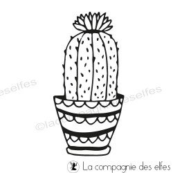 Tampon cactus fleuri