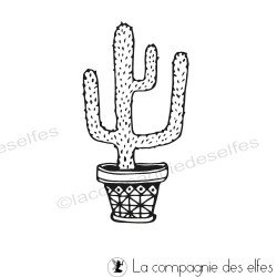 Tampon cactus branche