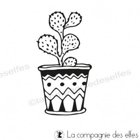 Challenge d'Août exotique. Tampon-cactus-opuntia