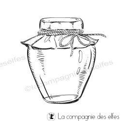 Marmelade jar rubberstamp | marmelade glas stempel