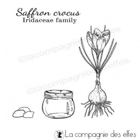 le 16 décembre sketch carte ou page Tampon-bulbe-safran