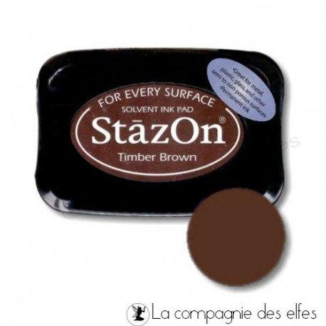 Nouveaux tampons et matériel scrapbooking juin Stazon-timber-brown