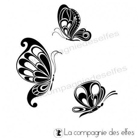 tampon encreur papillons | butterfies rubberstamp