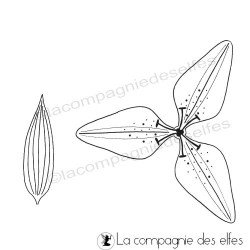 Lily rubberstamp   lys stempel
