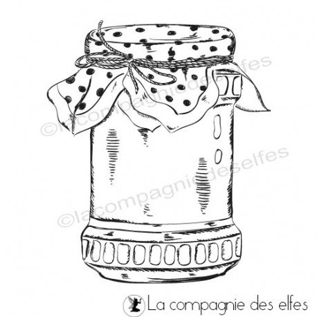 Acheter timbre jarre | cachet conserve