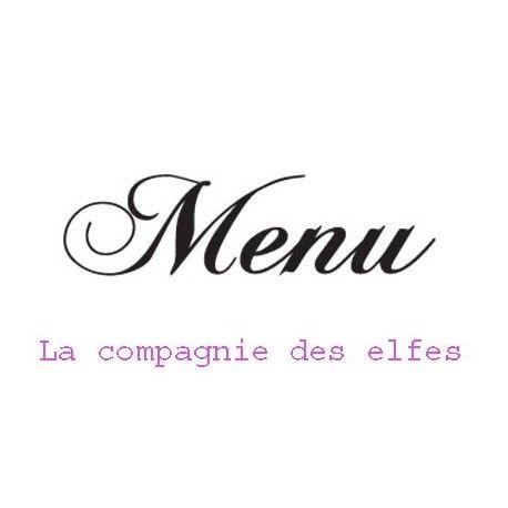 Tampon encreur menu | tampon menu mariage
