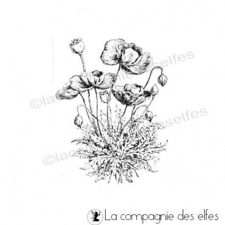 poppy stamp | tampon encreur botanique