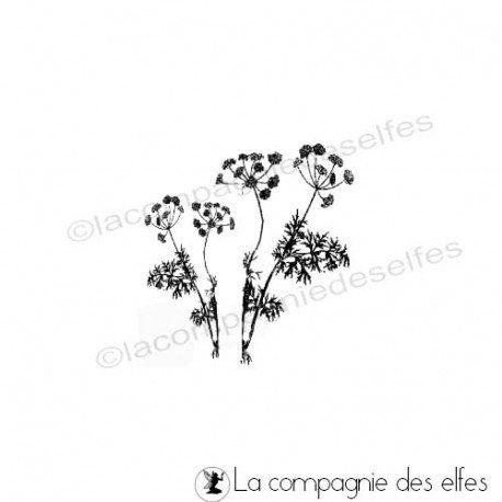 Tampon encreur fleur sauvage | savage flower stamp | tampon scrapbooking fleur