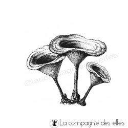 Achat tampon encreur champignon