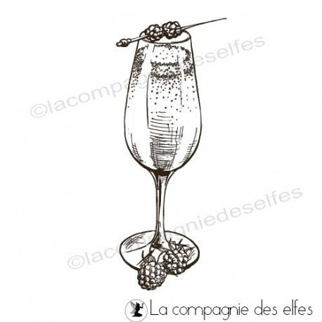 Achat tampon champagne