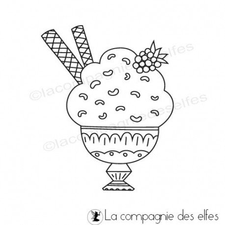 Achat timbre pot glace
