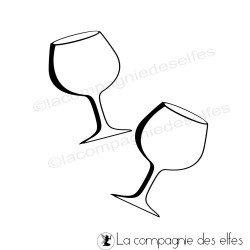 Tampon verre à vin | tampon encreur verre