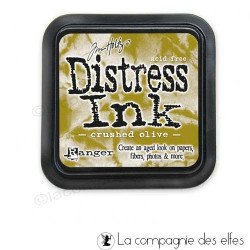 DISTRESS CRUSHED OLIVE encreur