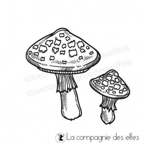Challenge d'octobre Tampon-champignon-amanite