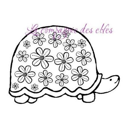 Tortue photo | tampon encreur tortue | tampon scrapbooking tortue