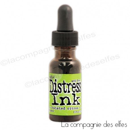 Carte 1/3 Distress-twisted-citron