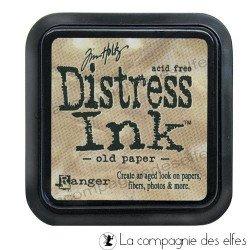 Distress encreur old paper vieux papier