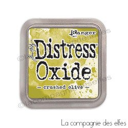 Distress crushed olive oxide