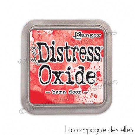 Encre distress oxide barn door rouge